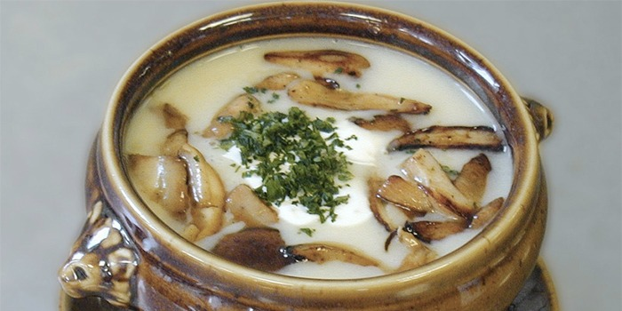 Turkish Creamy Mushroom Chicken Soup